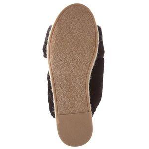 Sam Edelman Shoes - SAM EDELMAN Black Faux Fur Sandal NIB